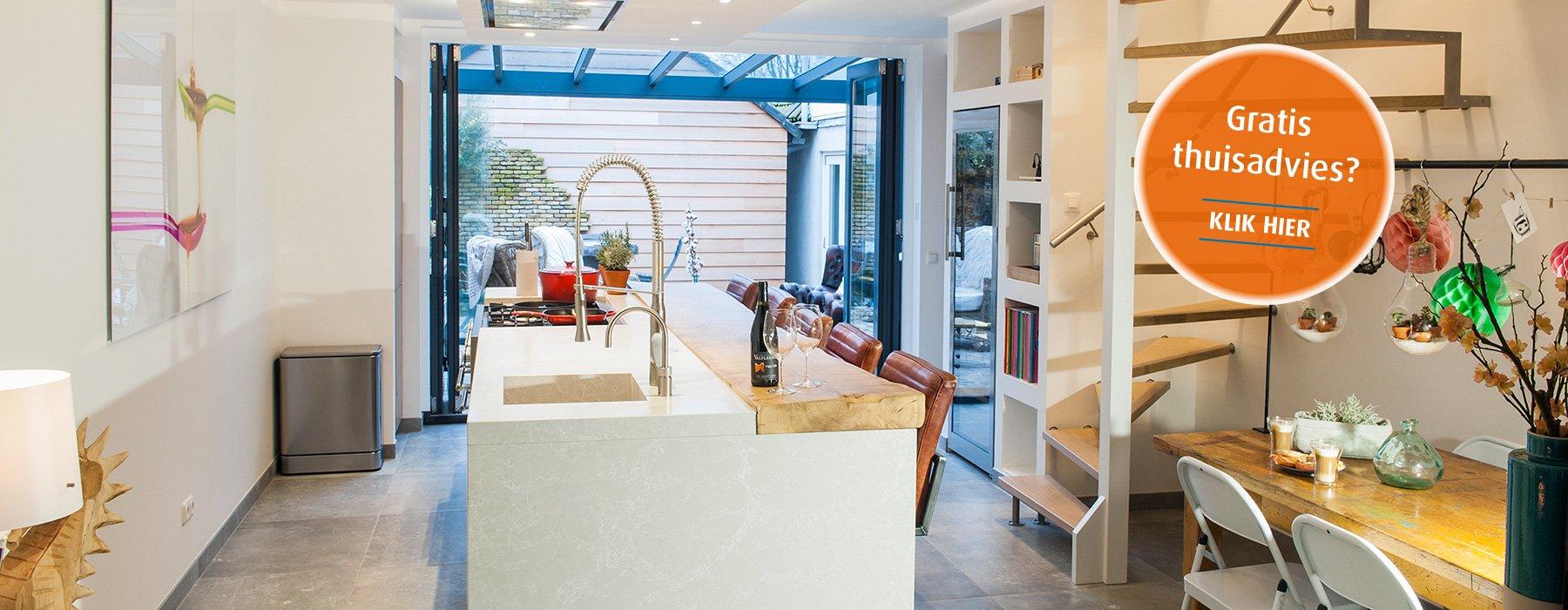 Voorbeeld van een keuken door Keuken Solutions op maat gemaakt